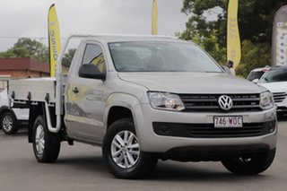 2016 Volkswagen Amarok 2H MY16 TDI420 4Motion Perm Silver 8 Speed Automatic Cab Chassis.