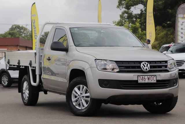 Used Volkswagen Amarok 2H MY16 TDI420 4Motion Perm Toowoomba, 2016 Volkswagen Amarok 2H MY16 TDI420 4Motion Perm Silver 8 Speed Automatic Cab Chassis