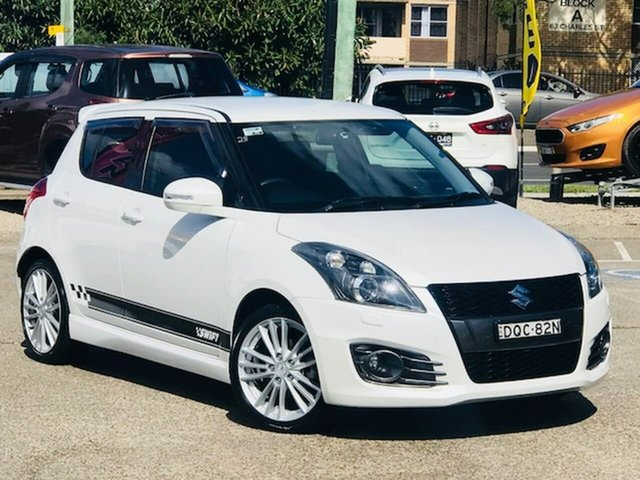 Used Suzuki Swift FZ MY15 Sport Liverpool, 2016 Suzuki Swift FZ MY15 Sport White 7 Speed Constant Variable Hatchback