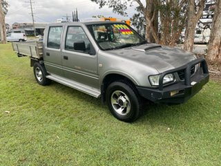 2002 Holden Rodeo TF MY02 LT Crew Cab Sports Grey 5 Speed Manual Utility