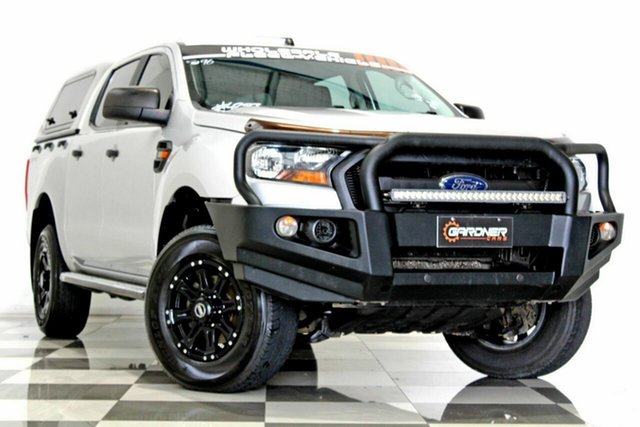 Used Ford Ranger PX MkII MY17 Update XL 2.2 Hi-Rider (4x2) Burleigh Heads, 2017 Ford Ranger PX MkII MY17 Update XL 2.2 Hi-Rider (4x2) Silver 6 Speed Automatic Crew Cab Pickup