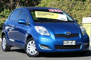 2009 Toyota Yaris NCP90R MY10 YR Blue Mica Metallic 5 Speed Manual Hatchback.
