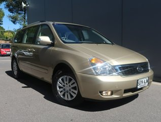 2010 Kia Grand Carnival VQ MY11 SI Gold 6 Speed Sports Automatic Wagon.