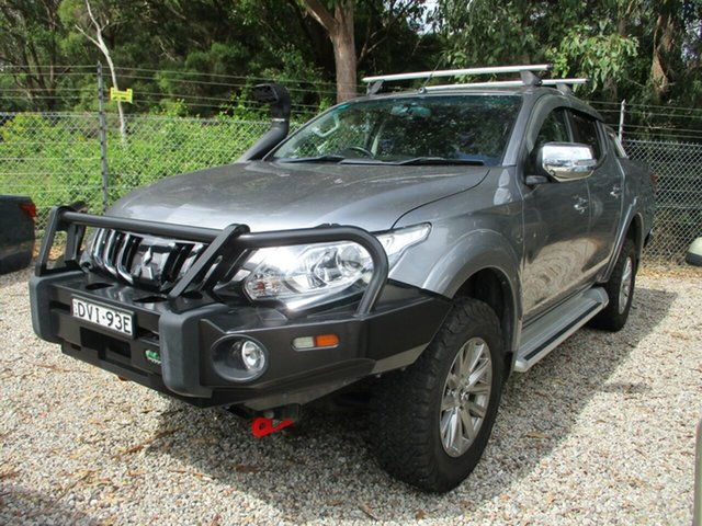 Used Mitsubishi Triton MQ MY18 GLS Double Cab Glendale, 2018 Mitsubishi Triton MQ MY18 GLS Double Cab Grey 5 Speed Sports Automatic Utility