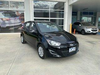 2015 Hyundai i20 PB MY15 Active Black 4 Speed Automatic Hatchback.