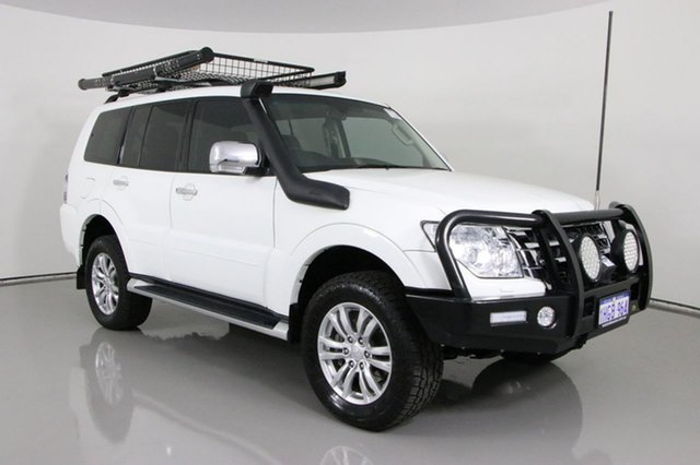 Used Mitsubishi Pajero NX MY17 GLS LWB (4x4) Bentley, 2017 Mitsubishi Pajero NX MY17 GLS LWB (4x4) White 5 Speed Auto Sports Mode Wagon