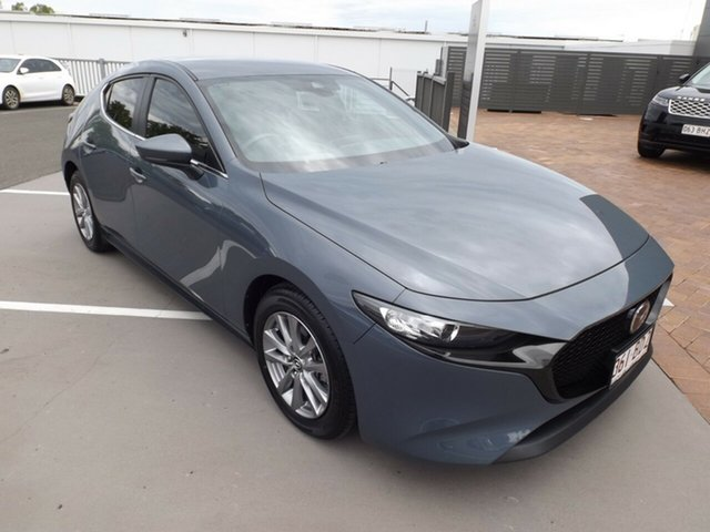Used Mazda 3 BP2H7A G20 SKYACTIV-Drive Pure Toowoomba, 2019 Mazda 3 BP2H7A G20 SKYACTIV-Drive Pure Polymetal Grey 6 Speed Sports Automatic Hatchback