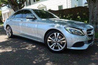 2014 Mercedes-Benz C-Class W205 C200 7G-Tronic + Grey 7 Speed Sports Automatic Sedan.