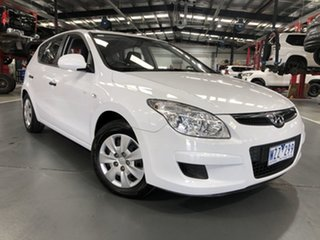 2009 Hyundai i30 FD MY10 SX White 5 Speed Manual Hatchback.