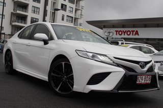 2019 Toyota Camry ASV70R SX Glacier White 6 Speed Sports Automatic Sedan.