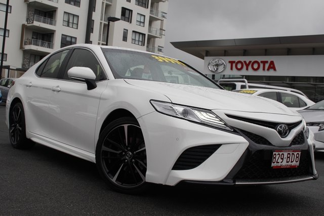 Pre-Owned Toyota Camry ASV70R SX Upper Mount Gravatt, 2019 Toyota Camry ASV70R SX Glacier White 6 Speed Sports Automatic Sedan