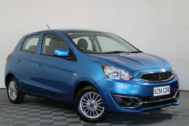 Used Mitsubishi Mirage LA MY20 LS Wayville, 2019 Mitsubishi Mirage LA MY20 LS Blue 1 Speed Constant Variable Hatchback