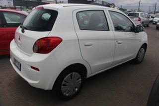 2016 Mitsubishi Mirage LA MY17 ES White 1 Speed Constant Variable Hatchback