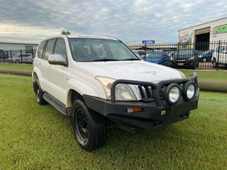 2003 Toyota Landcruiser Prado GRJ120R GXL White 4 Speed Automatic Wagon.