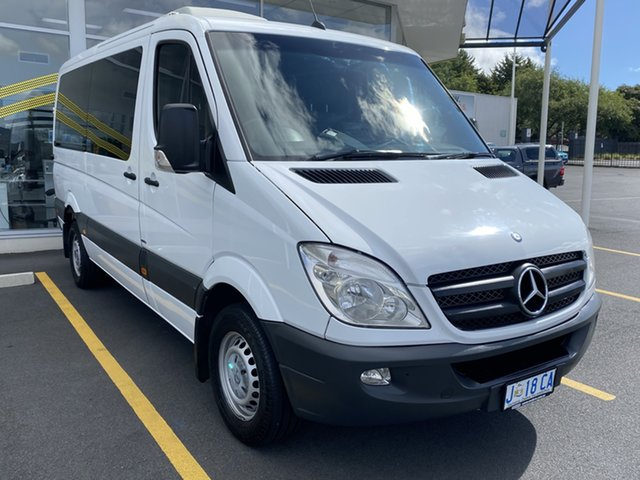 Used Mercedes-Benz Sprinter NCV3 MY12 319CDI Low Roof MWB 7G-Tronic Glenorchy, 2012 Mercedes-Benz Sprinter NCV3 MY12 319CDI Low Roof MWB 7G-Tronic White 7 Speed Sports Automatic