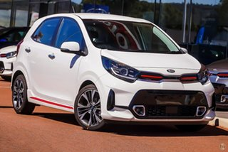 2020 Kia Picanto JA MY21 GT-Line White 4 Speed Automatic Hatchback.