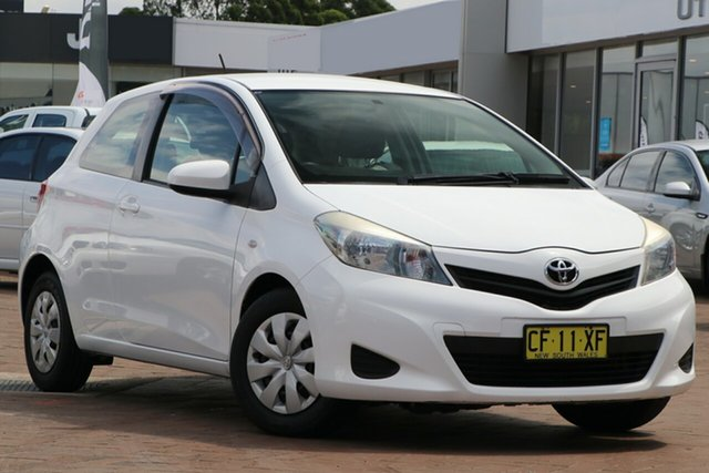 Pre-Owned Toyota Yaris NCP130R YR Warwick Farm, 2013 Toyota Yaris NCP130R YR White 4 Speed Automatic Hatchback