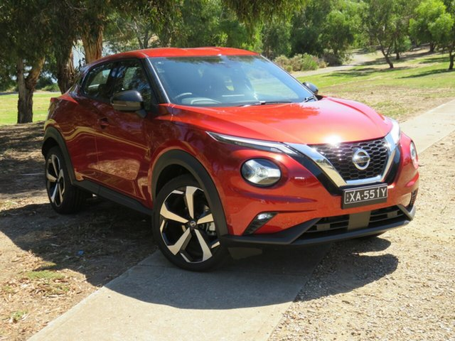 Demo Nissan Juke F16 ST-L DCT 2WD Morphett Vale, 2020 Nissan Juke F16 ST-L DCT 2WD Fuji Sunset Red 7 Speed Sports Automatic Dual Clutch Hatchback