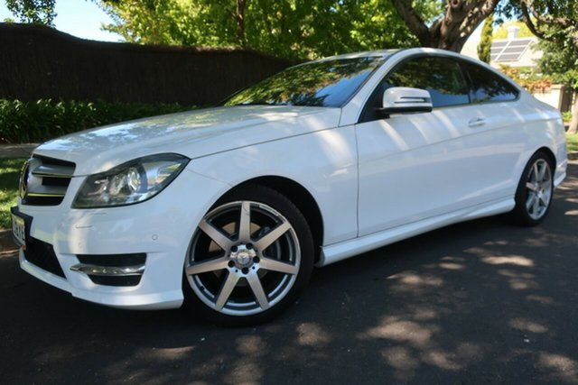 Used Mercedes-Benz C-Class C204 MY13 C250 CDI 7G-Tronic Prospect, 2013 Mercedes-Benz C-Class C204 MY13 C250 CDI 7G-Tronic White 7 Speed Sports Automatic Coupe