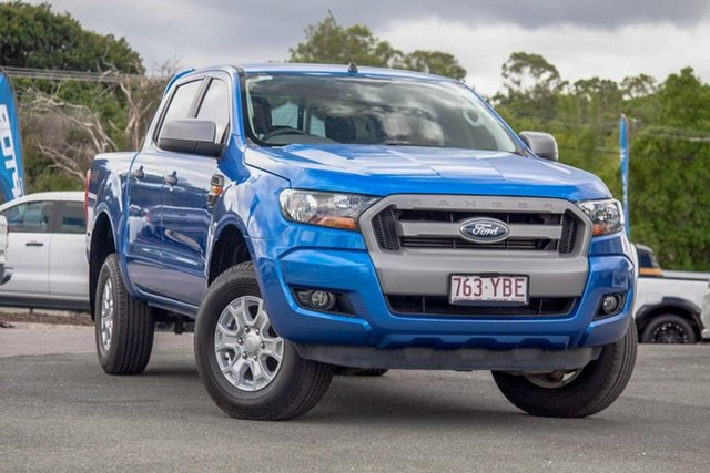 Used Ford Ranger PX MkII 2018.00MY XLS Double Cab Gympie, 2018 Ford Ranger PX MkII 2018.00MY XLS Double Cab Blue 6 Speed Sports Automatic Utility