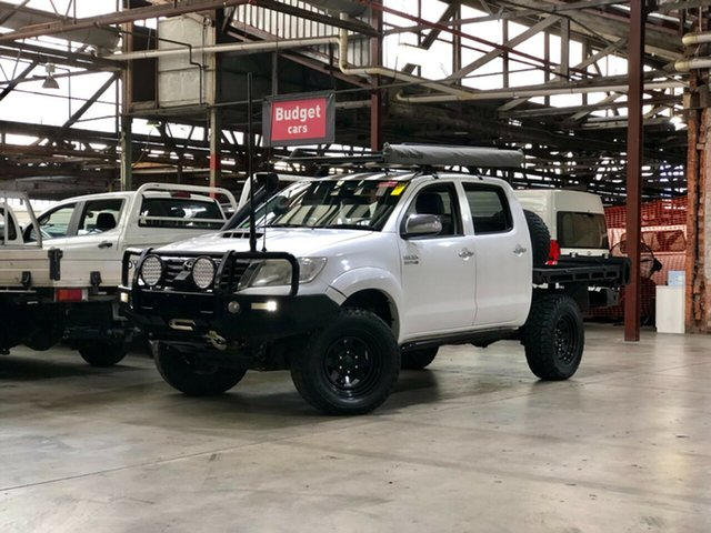 Used Toyota Hilux KUN26R MY12 SR5 Double Cab Mile End South, 2012 Toyota Hilux KUN26R MY12 SR5 Double Cab White 5 Speed Manual Utility