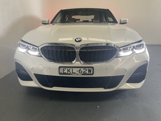 2020 BMW 3 Series G20 320i Steptronic M Sport Mineral White 8 Speed Sports Automatic Sedan