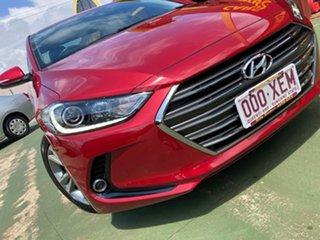 2017 Hyundai Elantra AD MY17 Elite A Shiraz Red 6 Speed Sports Automatic Sedan.