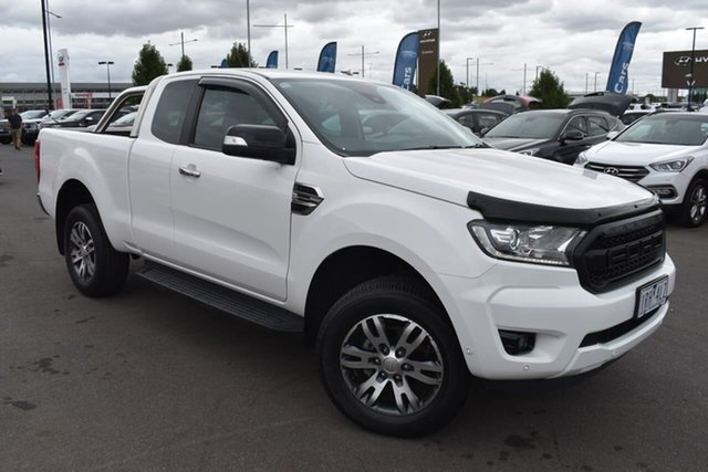Used Ford Ranger PX MkIII 2019.75MY XLT Essendon Fields, 2019 Ford Ranger PX MkIII 2019.75MY XLT White 10 Speed Sports Automatic Super Cab Pick Up