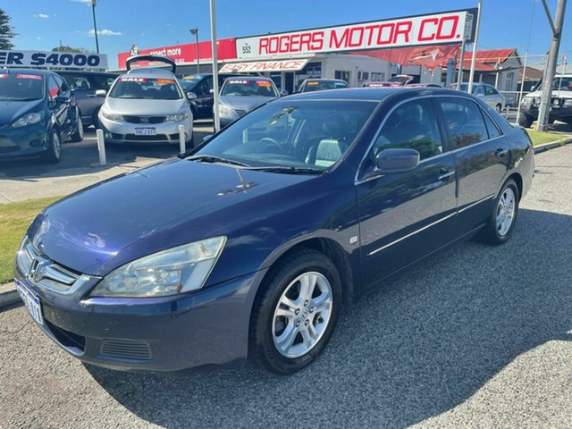 Used Honda Accord 40 MY06 Upgrade VTi-L Victoria Park, 2007 Honda Accord 40 MY06 Upgrade VTi-L Blue 5 Speed Automatic Sedan