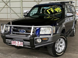 2007 Ford Ranger PJ XLT Crew Cab Blue 5 Speed Automatic Utility.