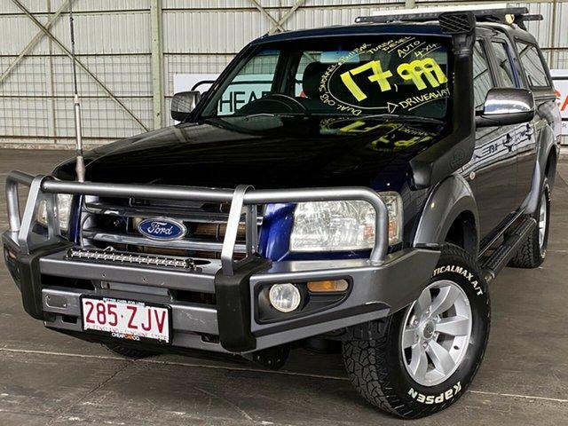 Used Ford Ranger PJ XLT Crew Cab Rocklea, 2007 Ford Ranger PJ XLT Crew Cab Blue 5 Speed Automatic Utility