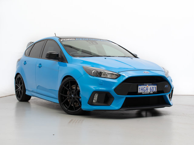 Used Ford Focus LZ RS Limited Edition, 2017 Ford Focus LZ RS Limited Edition Blue 6 Speed Manual Hatchback