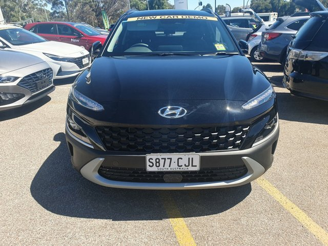 Demo Hyundai Kona Os.v4 MY21 Active 2WD Ingle Farm, 2020 Hyundai Kona Os.v4 MY21 Active 2WD Phantom Black 8 Speed Constant Variable Wagon