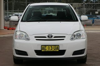 2005 Toyota Corolla ZZE122R 5Y Ascent White 4 Speed Automatic Hatchback