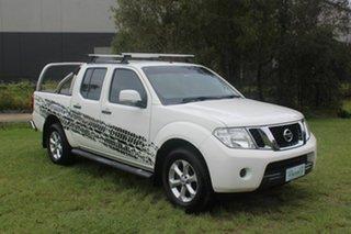 2014 Nissan Navara D40 S6 MY12 ST 4x2 White 5 Speed Automatic Utility.