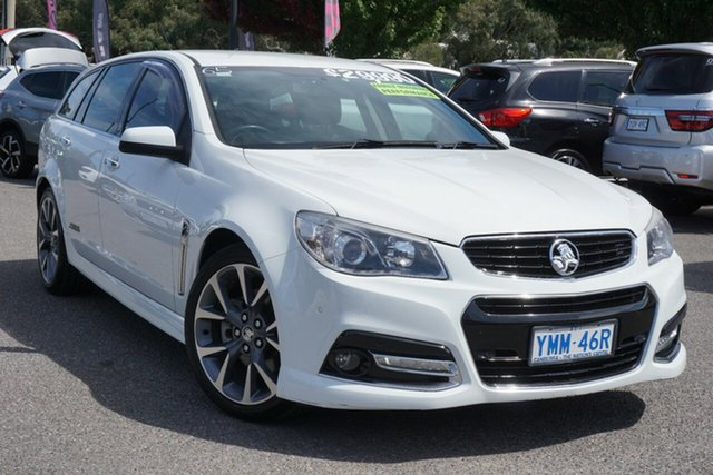 Used Holden Commodore VF MY14 SS V Sportwagon Phillip, 2013 Holden Commodore VF MY14 SS V Sportwagon White 6 Speed Sports Automatic Wagon