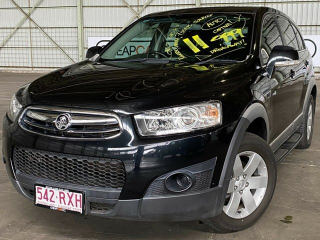 Used Holden Captiva CG Series II 7 SX Rocklea, 2011 Holden Captiva CG Series II 7 SX Black 6 Speed Sports Automatic Wagon