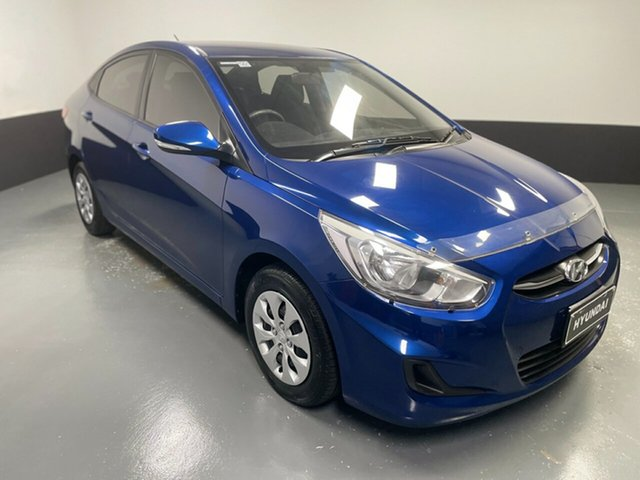 Used Hyundai Accent RB4 MY16 Active Hamilton, 2016 Hyundai Accent RB4 MY16 Active Blue 6 Speed Constant Variable Sedan
