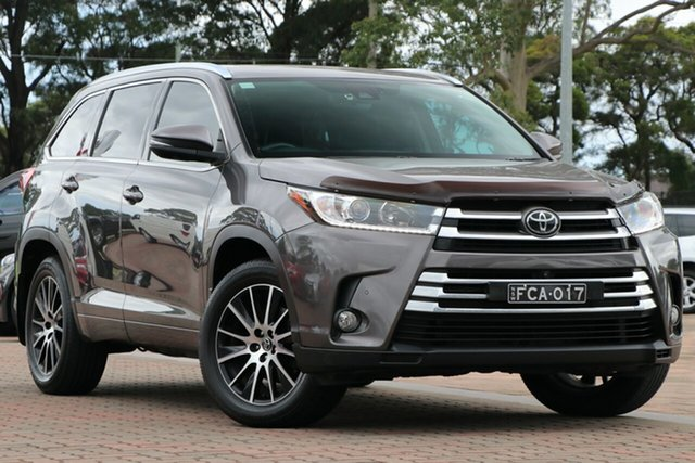 Pre-Owned Toyota Kluger GSU55R Grande AWD Warwick Farm, 2017 Toyota Kluger GSU55R Grande AWD Bronze 8 Speed Sports Automatic SUV