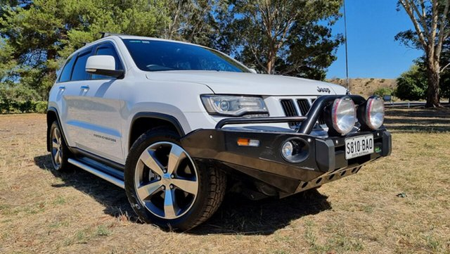 Used Jeep Grand Cherokee WK MY2014 Limited Nuriootpa, 2013 Jeep Grand Cherokee WK MY2014 Limited Bright White 8 Speed Sports Automatic Wagon