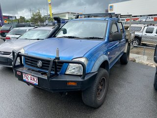 2005 Holden Rodeo RA MY05.5 Upgrade LX (4x4) Blue 5 Speed Manual Cab Chassis.
