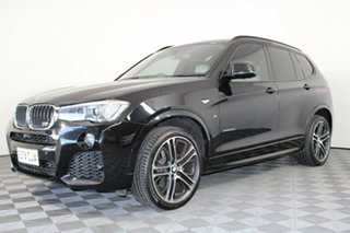 2016 BMW X3 F25 LCI xDrive20d Steptronic Black 8 Speed Automatic Wagon.