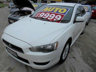 2010 Mitsubishi Lancer CJ MY10 Activ White 6 Speed Constant Variable Sedan.