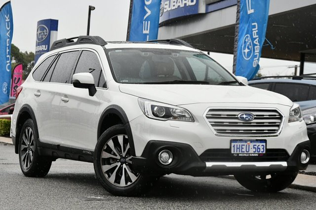 Used Subaru Outback B6A MY15 2.5i CVT AWD Premium Melville, 2015 Subaru Outback B6A MY15 2.5i CVT AWD Premium Crystal White 6 Speed Constant Variable Wagon