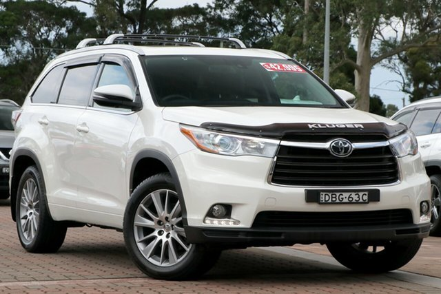 Pre-Owned Toyota Kluger GSU55R Grande AWD Warwick Farm, 2015 Toyota Kluger GSU55R Grande AWD White 6 Speed Sports Automatic SUV