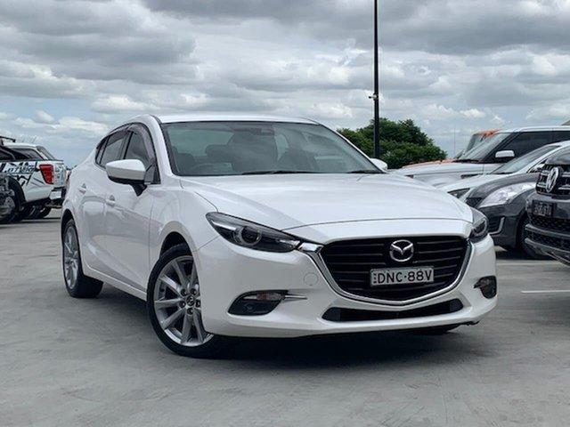 Used Mazda 3 BN5238 SP25 SKYACTIV-Drive GT Liverpool, 2017 Mazda 3 BN5238 SP25 SKYACTIV-Drive GT White 6 Speed Sports Automatic Sedan