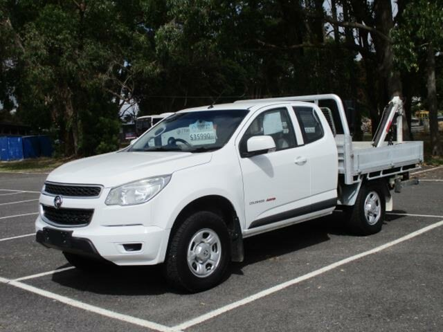 Used Holden Colorado Timboon, 2015 Holden Colorado RG Turbo LS 4x4 White Automatic SPACECAB CHASSI