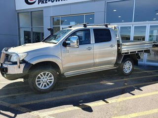 2012 Toyota Hilux KUN26R MY12 SR5 Double Cab Brown 5 Speed Manual Utility.