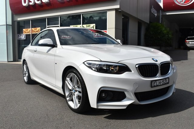 Used BMW 2 Series F22 220d M Sport Gosford, 2014 BMW 2 Series F22 220d M Sport White 8 Speed Sports Automatic Coupe