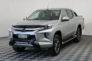 2019 Mitsubishi Triton MR MY20 GLS Double Cab Premium Sterling Silver 6 Speed Sports Automatic.